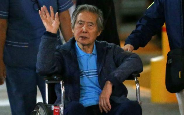 El proyecto busca evitar que Fujimori, de 80 años, vuelva a prisión. Foto: AFP