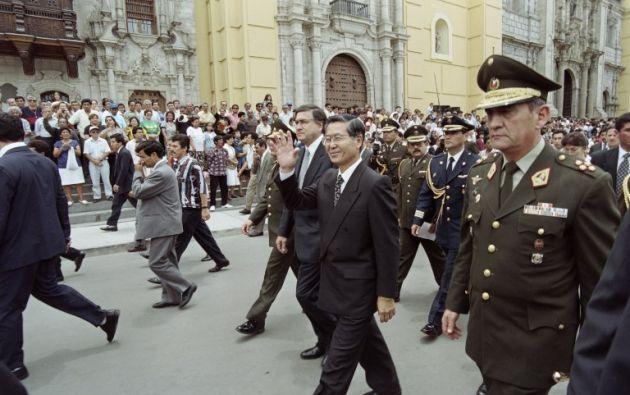 El expresidente de ancestros japoneses es procesado con otras 23 personas por los crímenes. Foto: archivo AFP