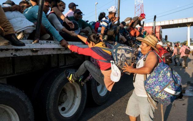 Los migrantes aún deben recorrer más de 3.000 km para alcanzar la frontera con Estados Unidos. Foto: AFP