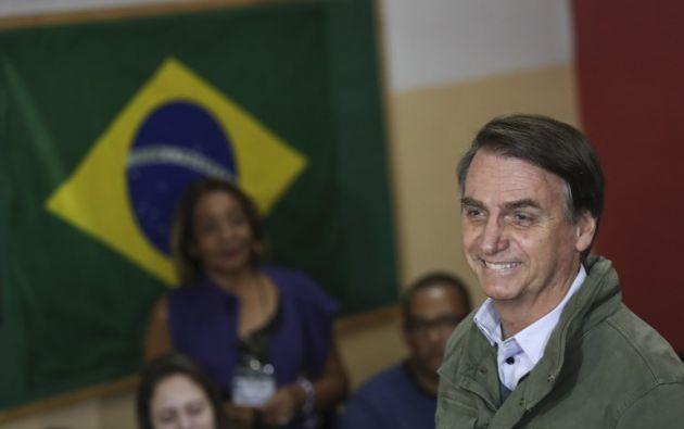 """Bolsonaro prometió profundizar las relaciones de Brasil con los países de la región """"libres de dictaduras"""". Foto: AFP"""