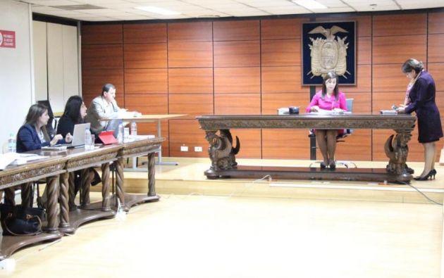 La jueza Silvia Sánchez suspendió la diligencia el pasado lunes 29 de octubre. Foto: Fiscalía