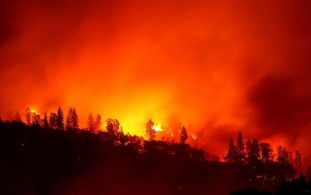 CALIFORNIA, EE.UU.- Autoridades aún no han establecido oficialmente la causa del incendio, denominado 'Camp Fire'. Foto: AFP.