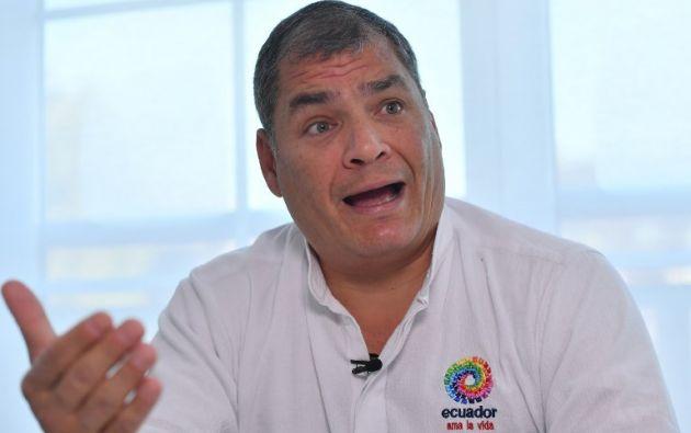 La Comisión pide a la Unidad de Análisis Financiero y Económico inicie una investigación del patrimonio de Rafael Correa. Foto: AFP