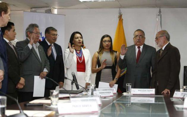 QUITO, Ecuador.- José Cabrera y Diana Atamaint conformarán organismo electoral junto con otros 3 miembros. Foto: Archivo