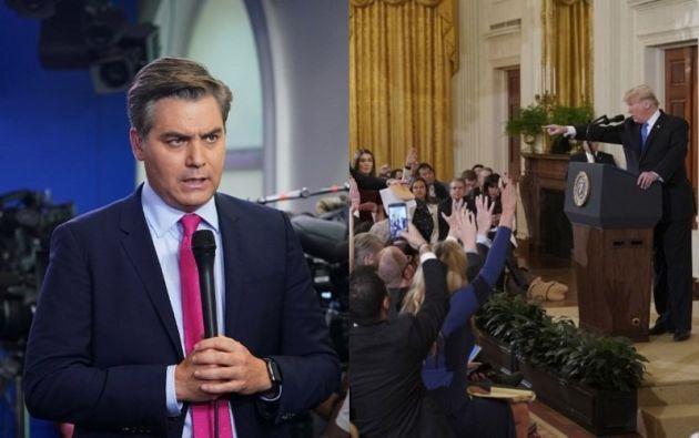 El juez emitió una orden temporal que exige al gobierno de Trump restablecer las credenciales de acceso de Acosta. Foto: Collage Vistazo (AFP)