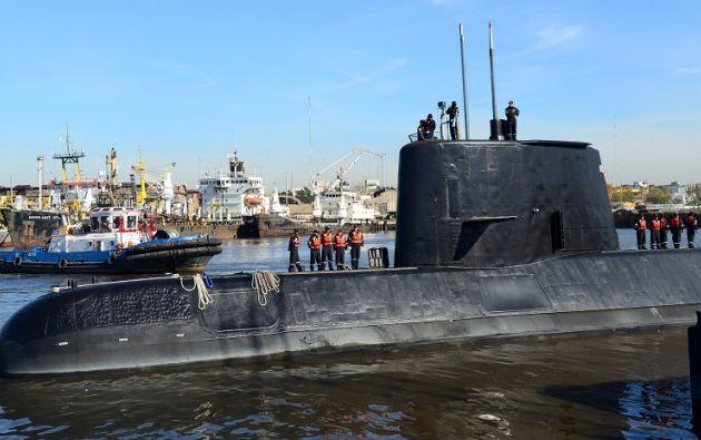 El submarino argentino ARA San Juan llevaba desaparecido desde el 15 de noviembre de 2017 con 44 tripulantes a bordo. Foto: archivo AFP