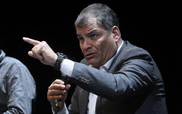 El pasado 7 de noviembre la jueza nacional Daniella Camacho dictó un auto de llamamiento a juicio a Correa. Foto: AFP