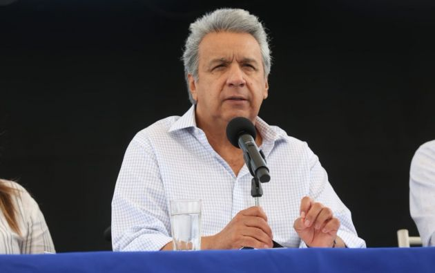 """""""Esta obra beneficiará a 350 mil mantenses y a un millón y medio de manabitas"""", dijo Moreno. Foto: Flickr Presidencia"""