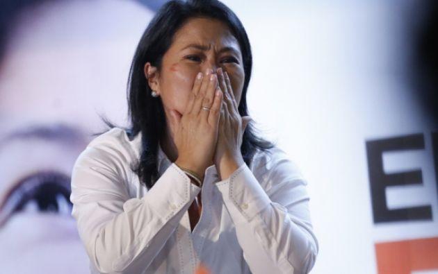 Keiko Fujimori y seis asesores a prisión preventiva. Foto: AFP