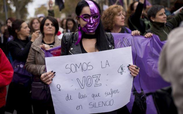 Con diferentes marchas las latinoamericanas rechazaron la impunidad y la discriminación en el marco del Día Internacional de la Eliminación de la Violencia contra la Mujer. Foto: AFP