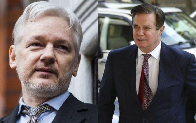 Una fuente del diario británico sin identificar afirma que Manafort fue a ver a Assange en marzo de 2016. Foto: Collage Vistazo