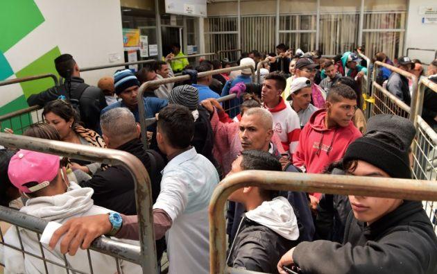 Entre 2014 y 2018 ingresaron a Ecuador más de 1,2 millones de venezolanos, de acuerdo con la cancillería. Foto: archivo AFP