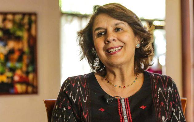 La vicepresidenta Arteaga estuvo en el cargo de jefa de Estado entre el 6 y el 11 de febrero de 1997. Foto: Agencia Andes