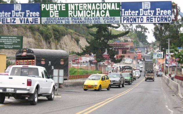 Los dos países, durante este año, aprobaron lo creación de Centros Binacionales de Atención Fronteriza en la zona del puente internacional de Rumichaca. Foto: archivo