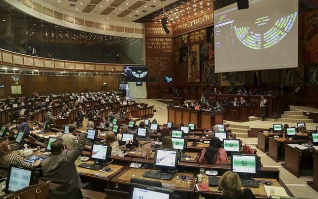 QUITO, Ecuador.- El futuro segundo mandatario será escogido de una terna enviada por el presidente Moreno. Foto: Asamblea.