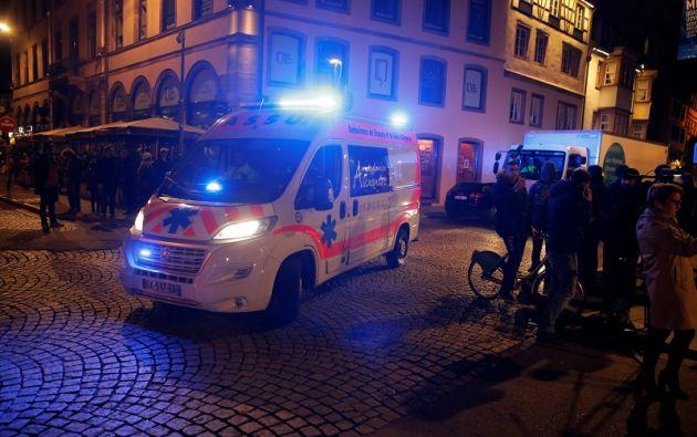 Escena del tiroteo en Estrasburgo. Foto: Reuters