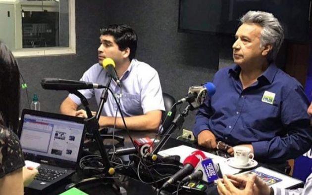 """""""Es un joven emprendedor que tiene el compromiso de trabajar junto a todos los ecuatorianos"""", dijo Moreno. Foto: cortesía"""