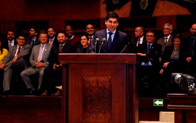 El nuevo vicepresidente, durante su intervención en la Asamblea Nacional. Foto: Internet