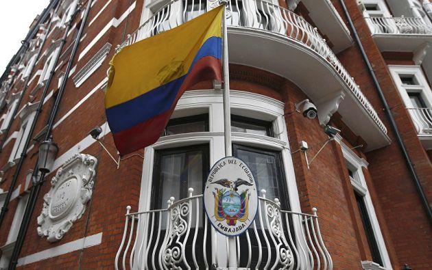 Embajada de Ecuador en Londres. Foto: Reuters