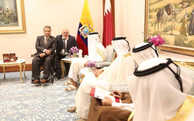 En 2018, Moreno realizó más de diez viajes al extranjero. Foto: Flickr Presidencia