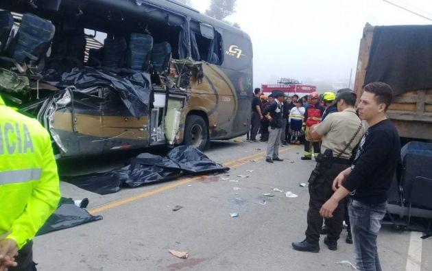 Siete muertos y doce heridos en un accidente de tráfico en Cañar. Foto: Twitter