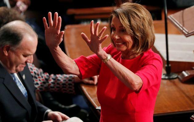 Pelosi ocupará el tercer cargo representantivo más importante en EE.UU., después del presidente y del vicepresidente. Foto: Reuters