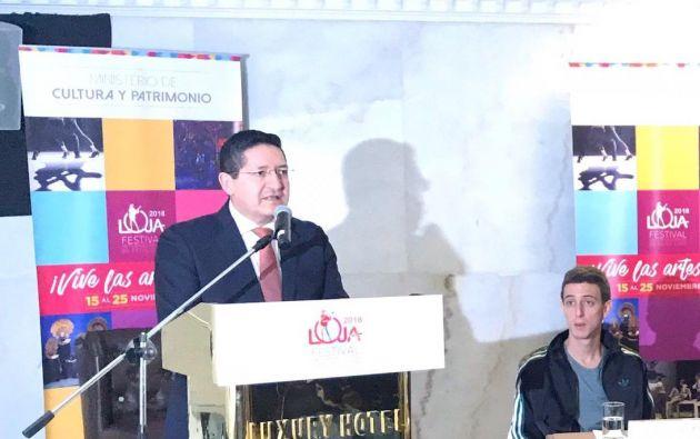 LIMA, Perú.-  Sandoval fue designado embajador en el vecino Perú el 25 de octubre de 2013. Foto: Embajada Ecu en Perú.