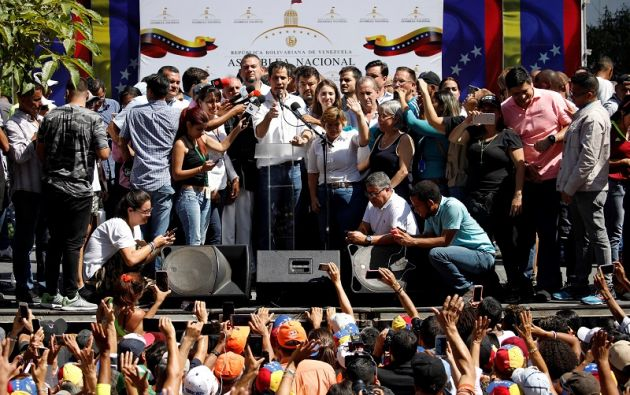 De su libertad se supo cuando el propio Guaidó envió un mensaje telefónico a sus colaboradores. Foto: Reuters