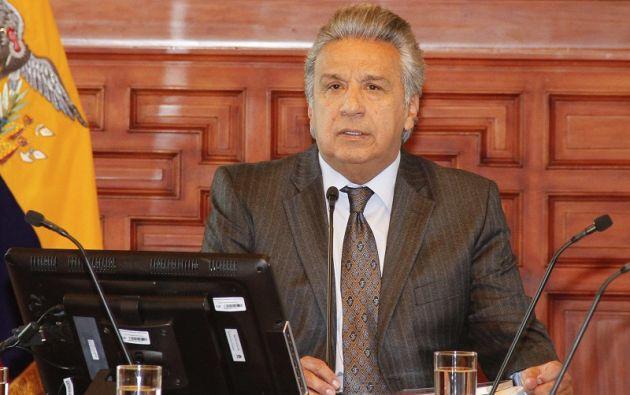 """""""He decidido que todo dinero devuelto se destine a cubrir la injusta deuda de $ 1.200 millones"""", dijo Moreno. Foto: Flickr Presidencia"""