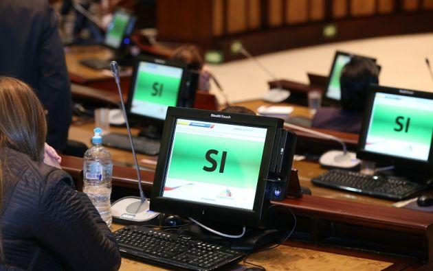 Sobre la moción se registraron, además de los 83 votos afirmativos, 10 pronunciamientos en contra y una abstención. Foto: Flickr Asamblea