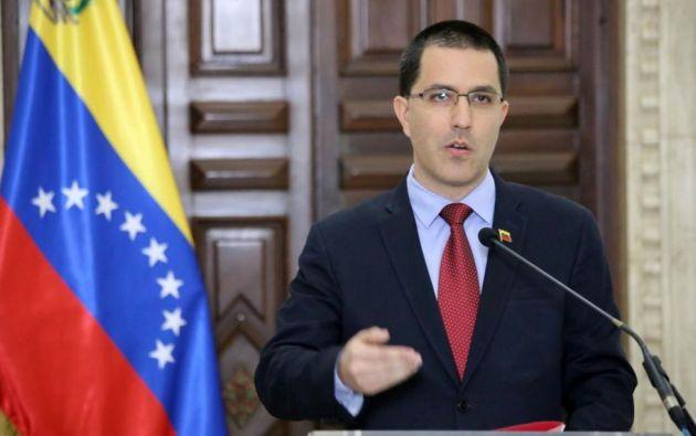 Canciller de Venezuela, Jorge Arreaza. Foto: AFP