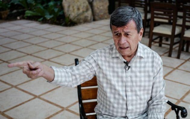 """Beltrán acusó a al Gobierno de Colombia de lanzar """"una ofensiva militar"""" contra la guerrilla durante los últimos seis meses. Foto: AFP"""