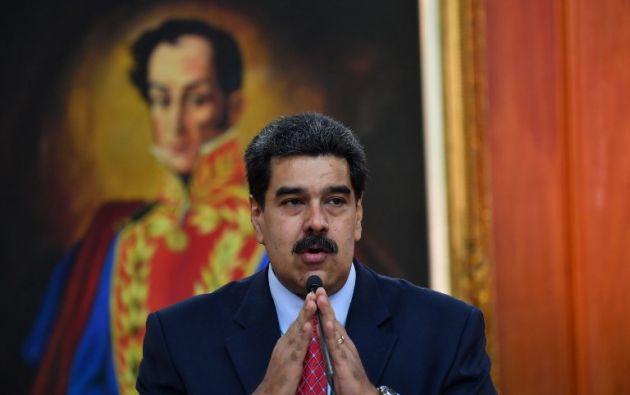 """""""Estoy comprometido con el diálogo nacional. Hoy mañana y siempre estaré comprometido y listo para ir donde haya que ir"""", dijo Maduro. Foto: AFP"""