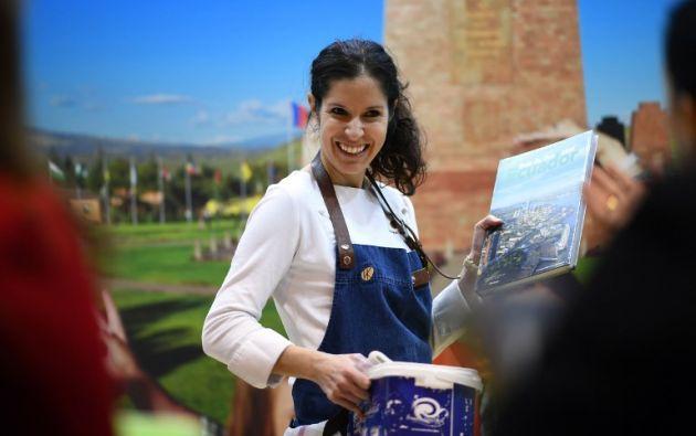 """""""Creo que se tiene que cambiar el chip de los ecuatorianos, que tengan más orgullo de su cocina"""", dijo Sánchez. Foto: AFP"""