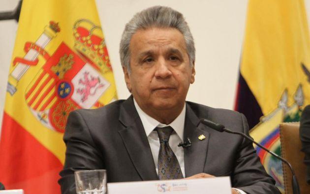 """""""Creo que la elección del señor Maduro fue demasiado tramposa"""", dijo Moreno. Foto: @ComunicacionEc"""
