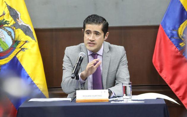 """""""No hay financiamiento más caro que el que no existe"""", dijo Martínez. Foto: @ComunicacionEc"""