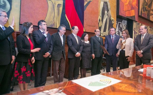 Los nueve magistrados fueron posesionados ante el Pleno de la Asamblea Nacional.