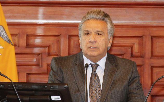 """""""Hemos entregado a la justicia más de 500 denuncias de posibles actos de corrupción"""", dijo Moreno. Foto: Flickr Presidencia"""