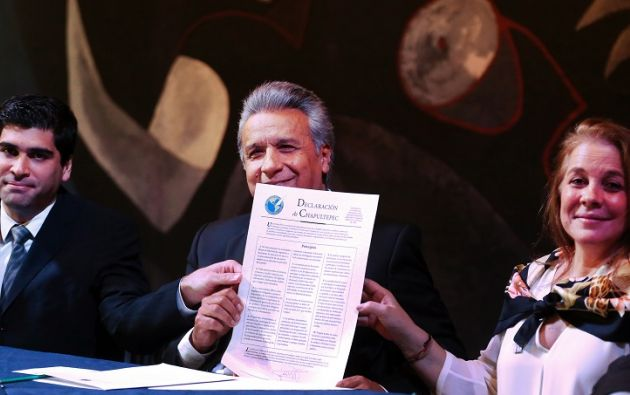 """""""Prefiero mil veces los excesos de la prensa que el imperio de la mordaza y la censura"""", argumentó Moreno. Foto: Flickr Presidencia"""