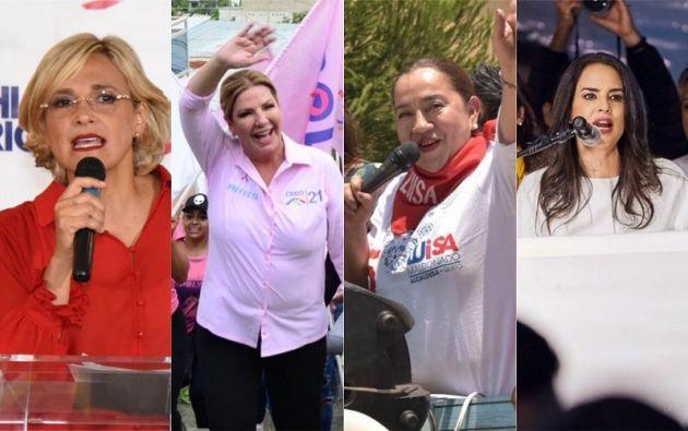 Cynthia Viteri, Poly Ugarte, Luisa Maldonado y Paola Vintimilla, son candidatas para alcaldía y prefectura en los comicios de marzo.