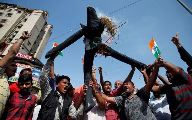 En India celebran el bombardeo realizado por las Fuerzas Armadas en territorio controlado por Pakistaní. Foto: Reuters.