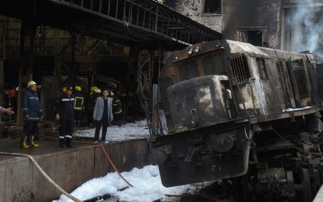 El impacto causó inmediatamente una explosión seguida de un incendio. Foto: AFP