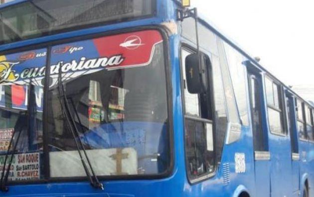 La unidad de transporte público fue sancionada. Foto: Twitter @AMTQuito