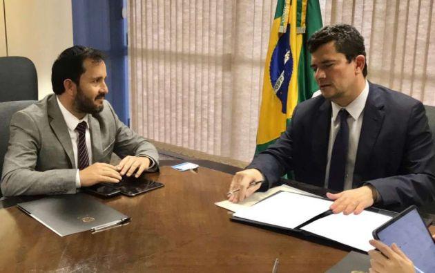 Granda se reunió en Brasil con el ministro de Justicia de ese país, Sergio Moro.