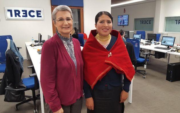 """Martha Beatriz Roldán: """"Podemos ser líderes reclamando espacios con serenidad"""". Foto: Twitter Manos Unidas ONGD"""