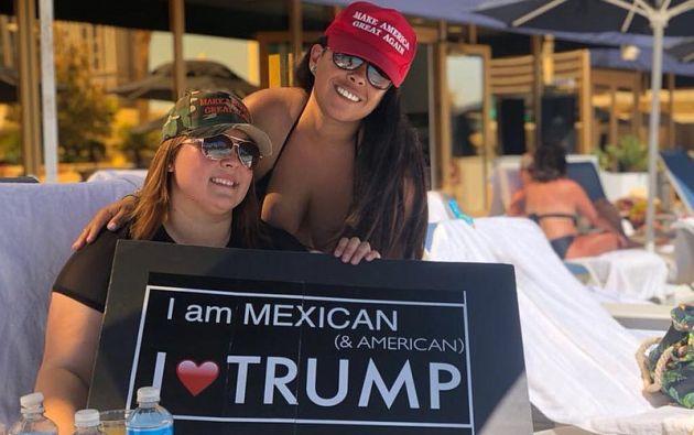 """La latina """"influencer"""" que adora al presidente de EE.UU. Foto: Twitter"""