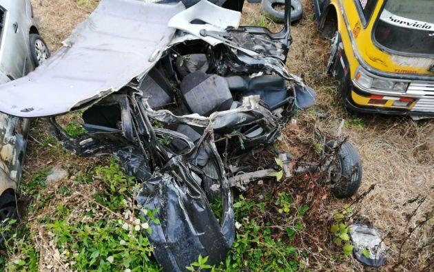 4 muertos tras accidente de tránsito en Otavalo. Foto: Christian Tinajero - Ecuavisa