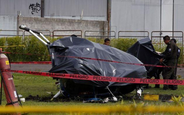 Tras el incidente se conoció que cuatro tripulantes resultaron heridos, entre ellos una civil. Foto: AFP