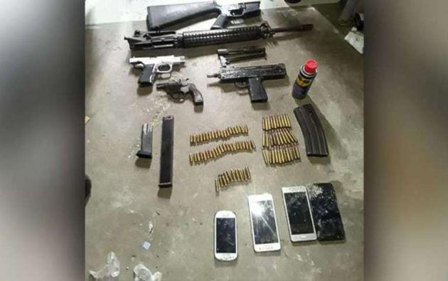 Un arsenal fue decomisado en la cárcel de Guayaquil. Foto: Captura de video