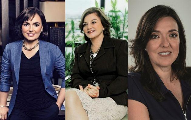 Adriana Hoyos, Isabel Noboa y Caterina Costa.